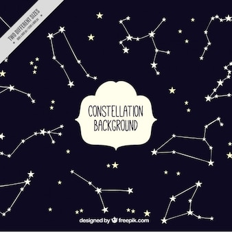 Cute background with stars and constellations