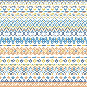 Cute background with tribal pattern