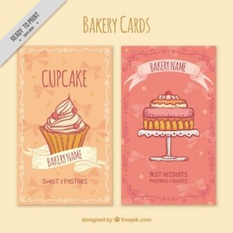 かわいいパン屋カードがセット