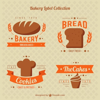 Cute bakery sticker collection