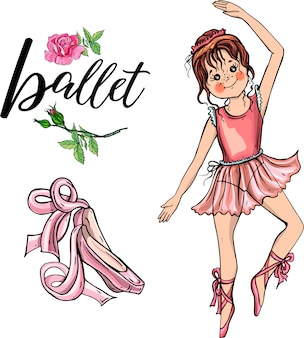 Cute ballerina girl