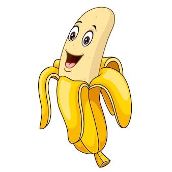 かわいいバナナ漫画マスコットロゴ