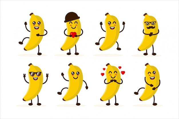 かわいいバナナキャラクターデザインイラスト