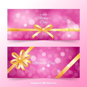 Cute banners of mother's day