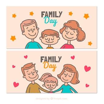 Banner svegli con per il giorno internazionale delle famiglie