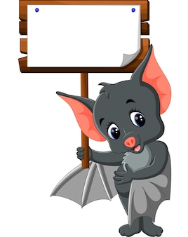 Cute bat cartoon