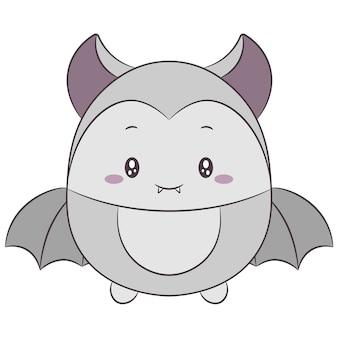 할로윈 귀여운 박쥐 그리기