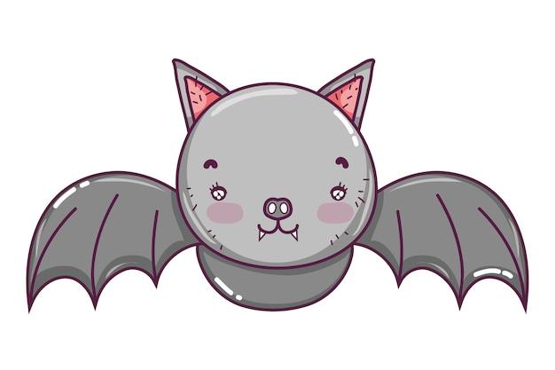 Cute bat wild animal flying