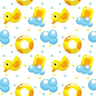 Cute bath seamless pattern