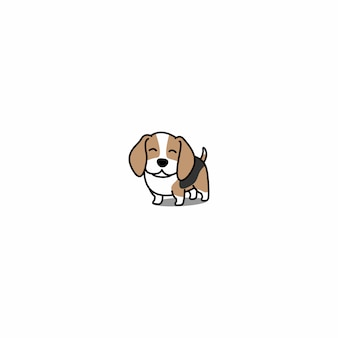 Cute beagle puppy smiling vector