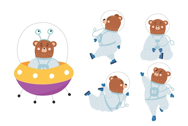 子供のためのかわいいクマ宇宙飛行士セット