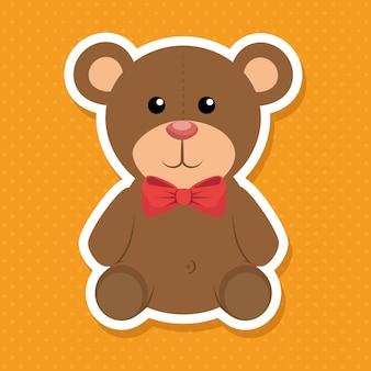 Cute bear baby icon vector illustration design