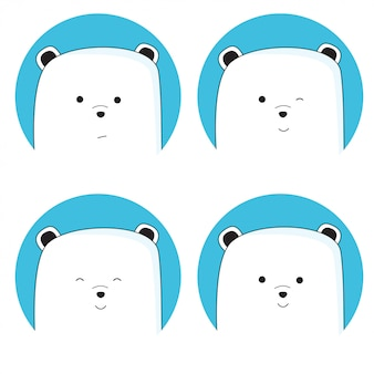 Cute bear background collection