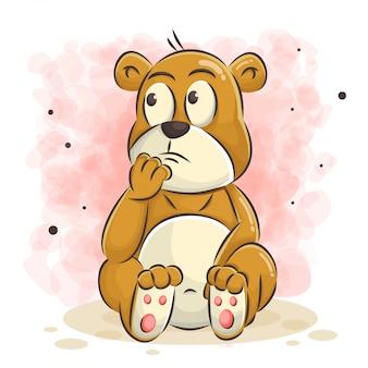 Милый медведь иллюстрации шаржа
