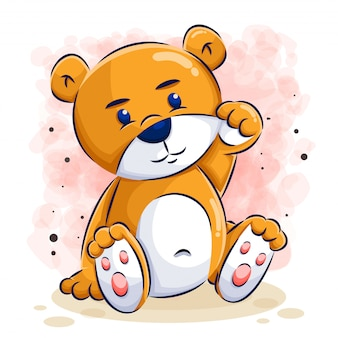 Cute bear cartoon illustration