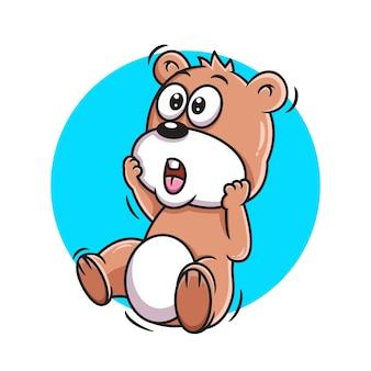 Cute bear cartoon vector illustration