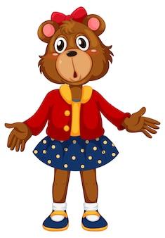 Un simpatico personaggio di orso