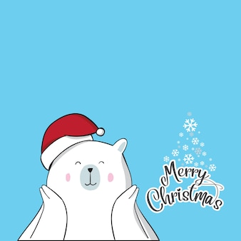 Cute bear for christmas day