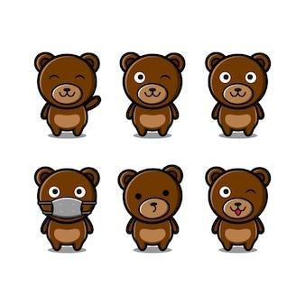 Cute bear design logo