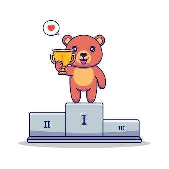 귀여운 곰이 1등을 차지했습니다.