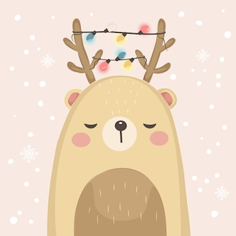 Cute bear illustration for decoration