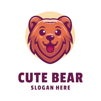 Cute bear logo design
