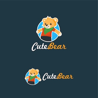 귀여운 곰 로고 테디 인형