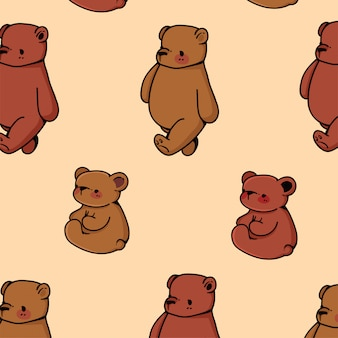 かわいいクマ柄