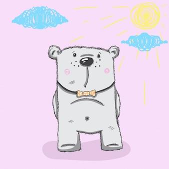 かわいい熊tシャツプリントにピッタリ