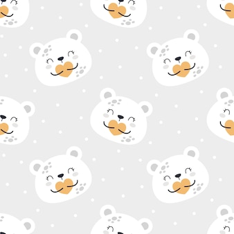 Милый медведь планеты бесшовные модели