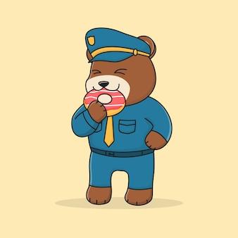 Cute bear police