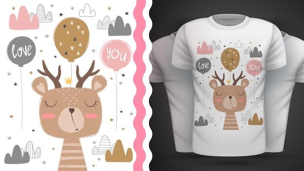 Cute bear for print t-shirt