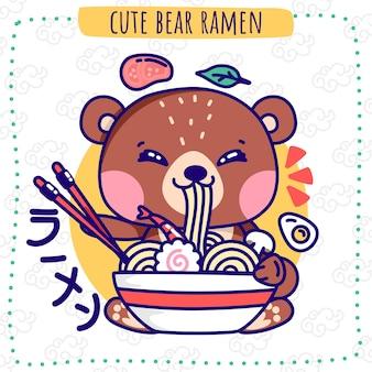 Cute bear ramen