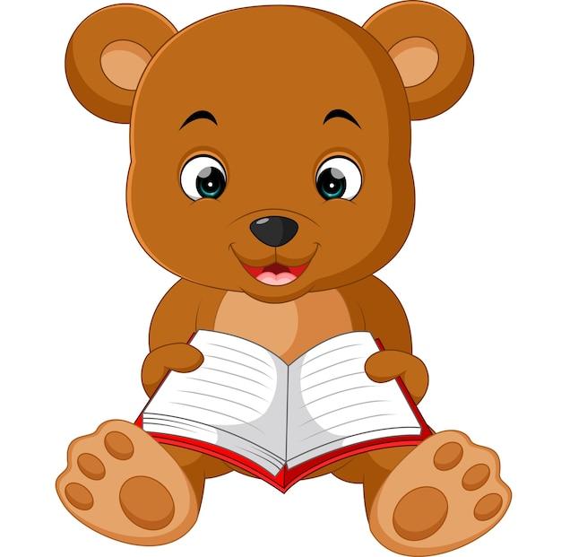 かわいいクマの読書漫画