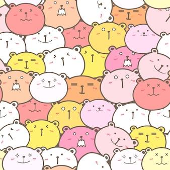 Cute bear seamless pattern b