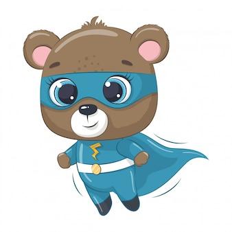 Милый медведь супер герой.