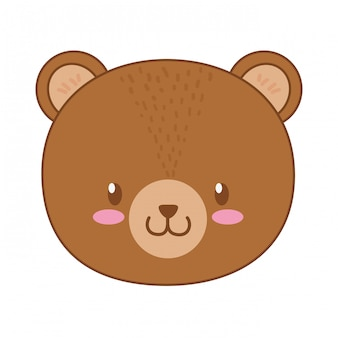 Cute bear woodland character