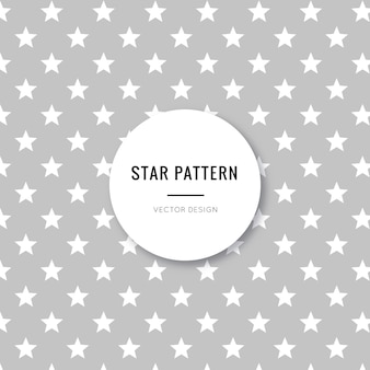 Cute and beautiful grey stars seamless pattern