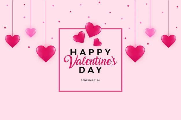 Cute and beautiful valentine's day background