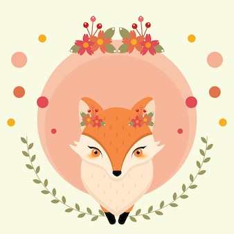 Cute beauty fox