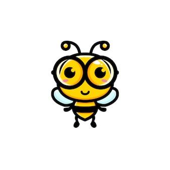 かわいい蜂のキャラクター