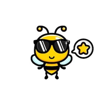 멋진 선글라스를 쓰고 귀여운 꿀벌