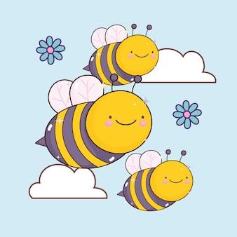 Симпатичные пчелы каваи