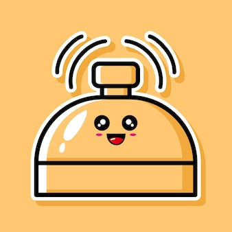 Cute bell cartoon design