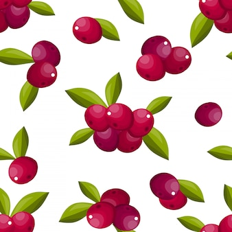 Cute berry seamless pattern.
