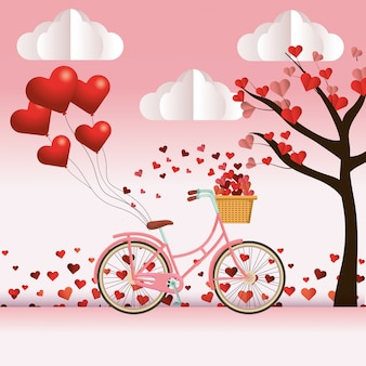 Cute bicycle cartoon
