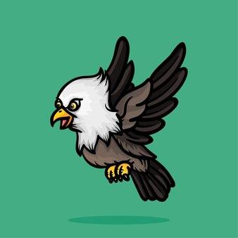 Симпатичная птица мультяшный дизайн персонажей животных kawaii kid графический вектор illustraton