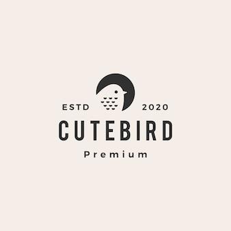 Симпатичная птица старинный логотип