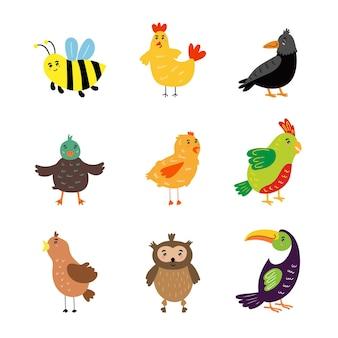 かわいい鳥のベクトルイラストクリップアート