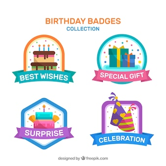 Симпатичные значки дня рождения